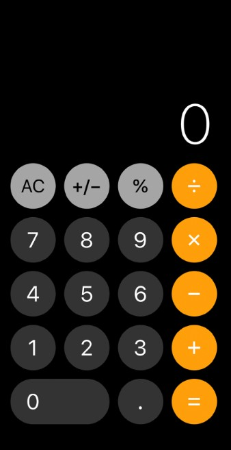 how to do exponents on iphone calculator