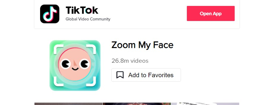 What is the Face Zoom effect on TikTok